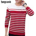 HEE GRAND Men's Long Sleeve Fashion Sweater Knitwear Male Sweaters For 2017 Classic Man Stripped Spliced Spring Pullover MZL713