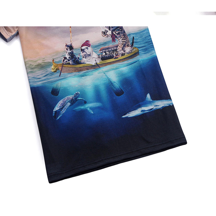 Mr.1991 brand Pirate Cat 3D T-Shirt für Jungen und Mädchen Neue - Kinderkleidung - Foto 5