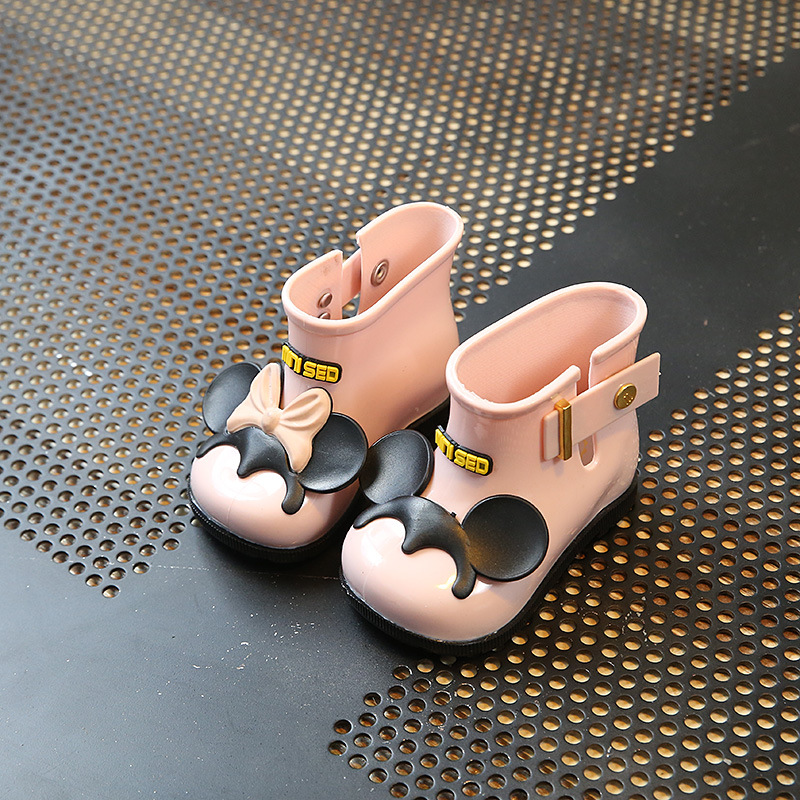 2017 Mini Jelly Shoes Boys Girls Rainboot Soft Comfort Toddler Baby Girl Sandals Beach Sandals for Kids