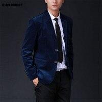 AIMENWANT Suit 2017 oversized mens customize suit commercial corduroy blazer male slim fit outerwear solid 5colors jacket gifts