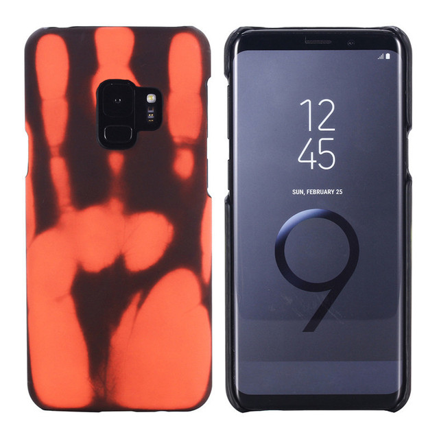 more photos 17a8c 92bdb Aliexpress.com : Buy Thermal Sensor Cases Fluorescent Color Changing COOL  Matte PC Phone Heat Induction Protective Back Shell For Samsung S9 S9+ Plus  ...