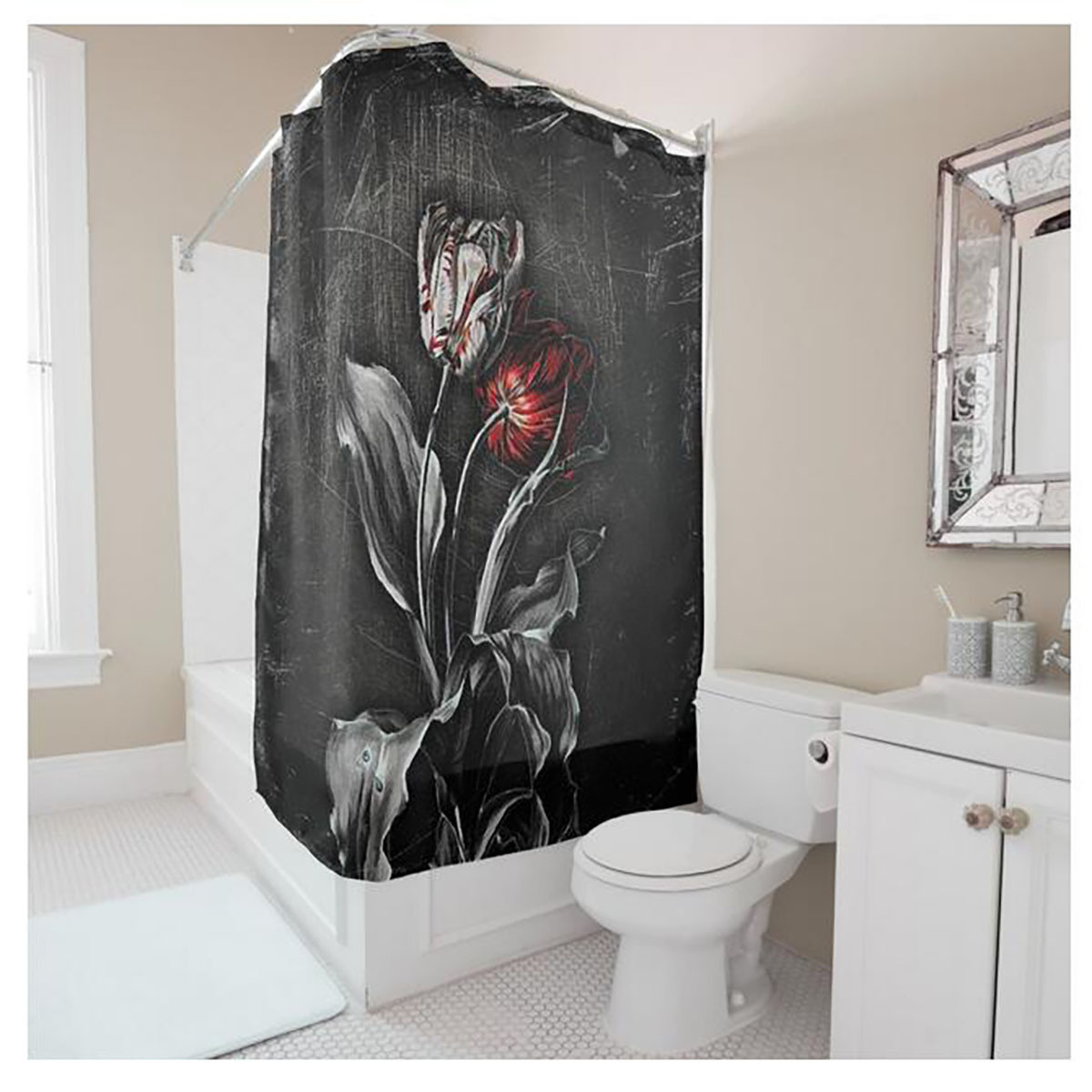 Smart Myru European Style Black Shower Curtain Rose Shower Animal Shower Curtains Cheap Shower Curtains
