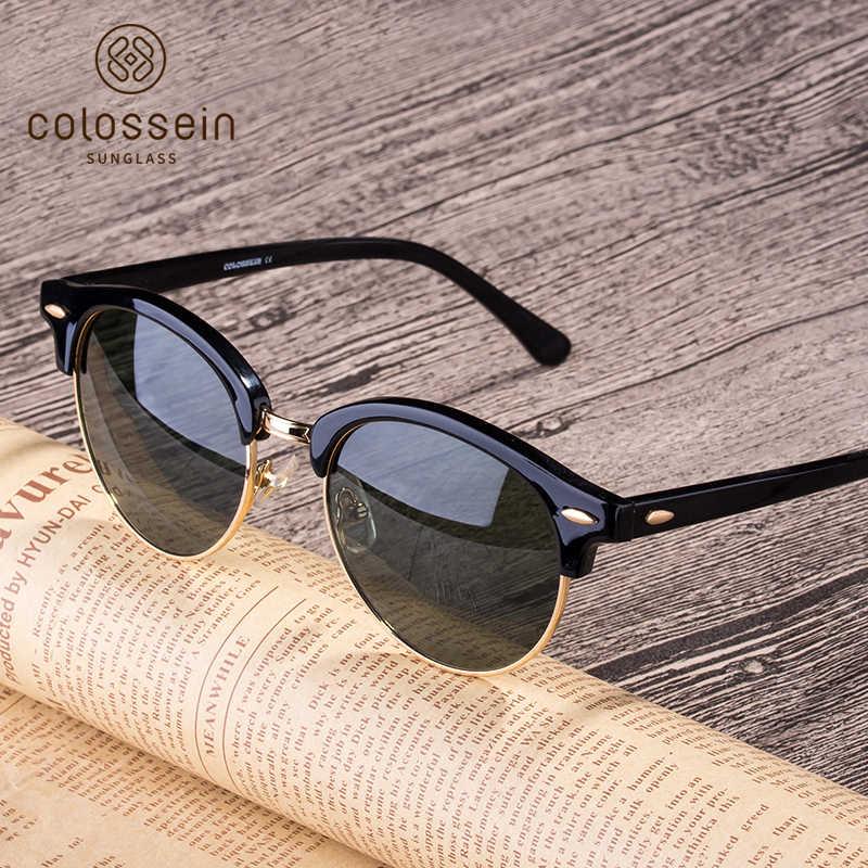 e47c92e5999 COLOSSEIN Polarized Sunglasses Women Vintage Cat Eye Fashion Sun Glasses  Grey Female Brand Designer Men Adult