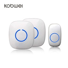 1000ft/ 300m long-range Portable Wireless Doorbell with 1 Push Button 2 Receiver(Battery included)