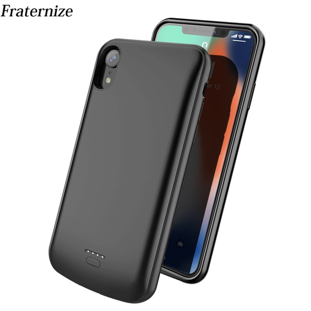 big sale abee7 0b3c4 US $19.99 30% OFF|Slim Battery Case For iPhone X XS Max External Power Bank  Charging Case For iPhone XR Battery Charger Back Cover Support Audio-in ...