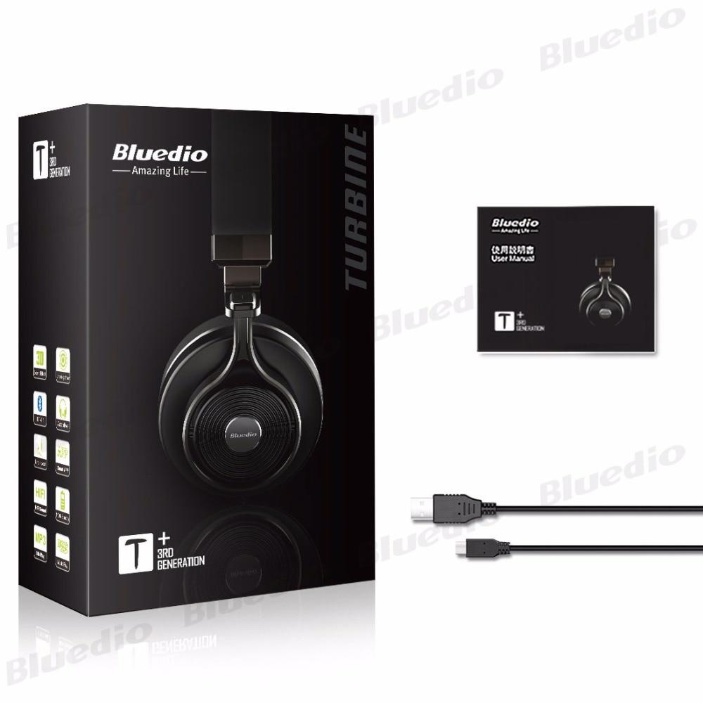 Bluedio Original T3 Plus Bluetooth écouteur sans fil 3D stéréo MP3 lecteur de musique HIFI sport casque Micro SD Bluetooth écouteur