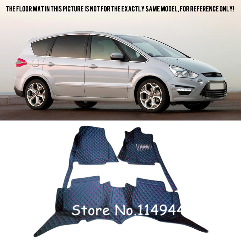 For Ford S-Max 5 seats 2006-2014 Special Waterproof  Car Floor Mats Carpets 2014 5d car fioor mats one step making newest special for volksiwagen golf 7