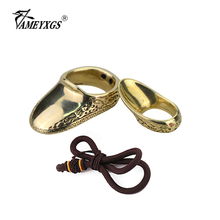 1pc Archery Finger Guard Brass Shooting Ring Bow And Arrow Shooting Catapult Sports Finger Protective Gear Traditional Thumb