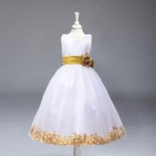 Pageant причастие вокруг цветка маленькие цветочный свадьбы розничная партии девочки платья