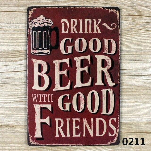 Buy beer friend vintage tin sign bar pub - Cuadros para bares ...
