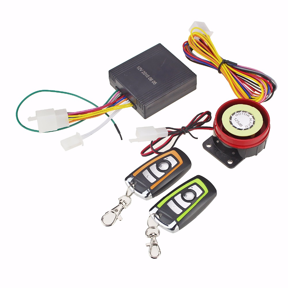 One way motorcycle scooter alarm lock motorbike security alarm moto remote control alarm system protection engine