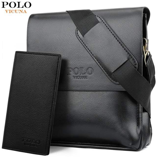 fcf0f38fba Online Shop VICUNA POLO Famous Brand Leather Men Bag Casual Business  Leather Mens Messenger Bag Vintage Men s Crossbody Bag bolsas male
