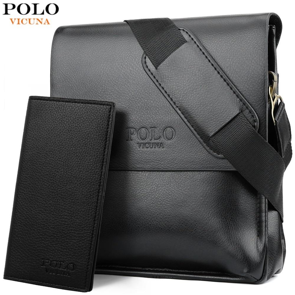 a346b1c792d4f VIKUNJA POLO Berühmte Marke Leder Männer Tasche Casual Business Leder Herren  Messenger Tasche Vintage männer Umhängetasche