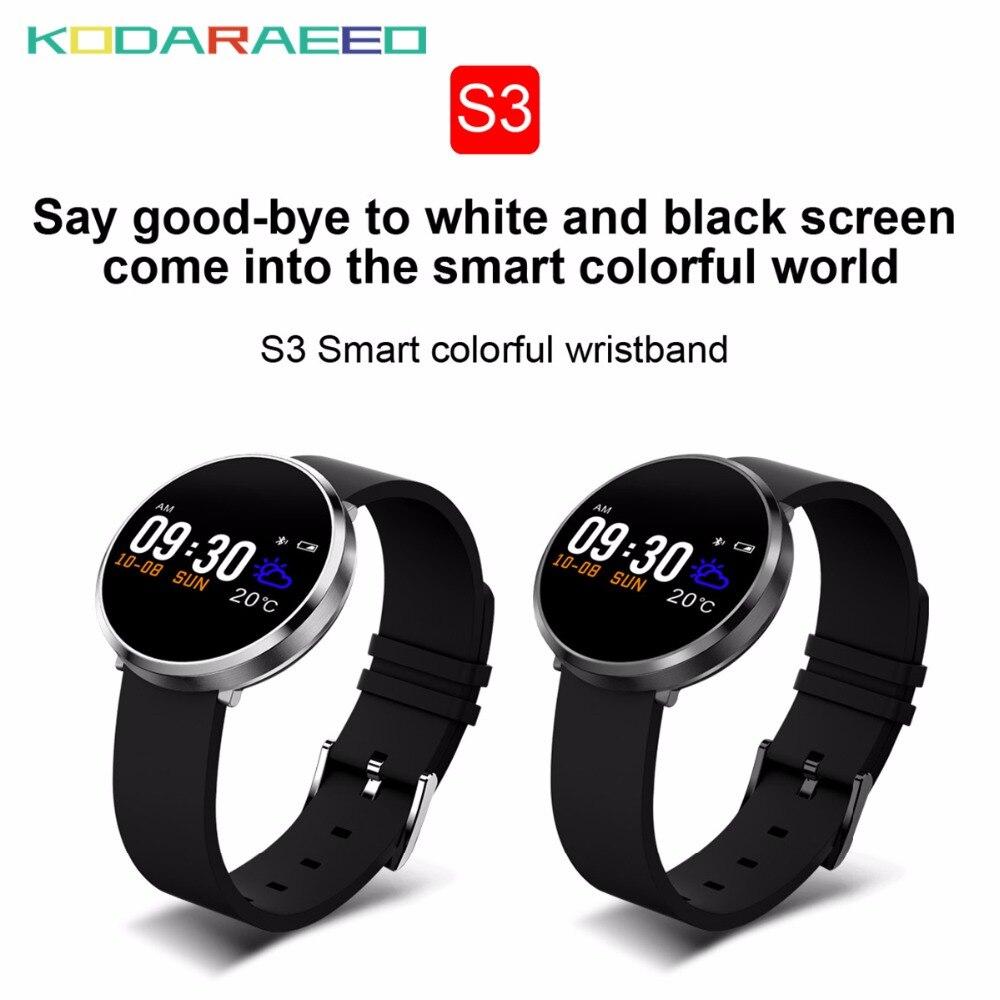 S3 montre intelligente podomètre étanche mesure de la pression artérielle Bracelet de Fitness hommes femmes pour iphone Android montre téléphone