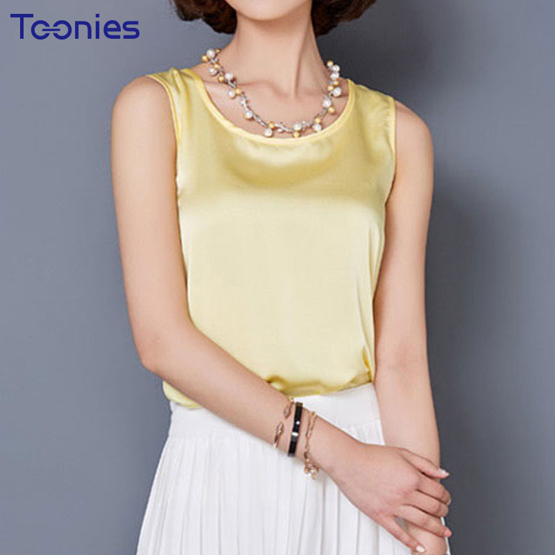 2018 New Summer Korean Style Chiffon Tank Top Woman Candy Color Sleeveless T Shirt Women Casual Sexy Ladies Tops Femme Plus Size
