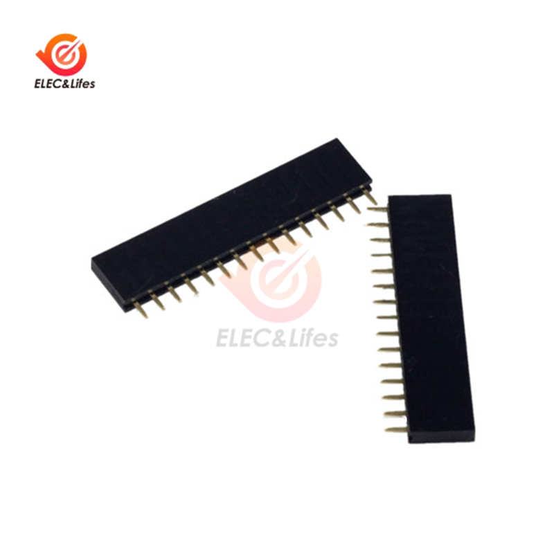 50Pcs 40pin 2.54mm Single Row Straight Female Pin Header Strip PBC Arduino TOP