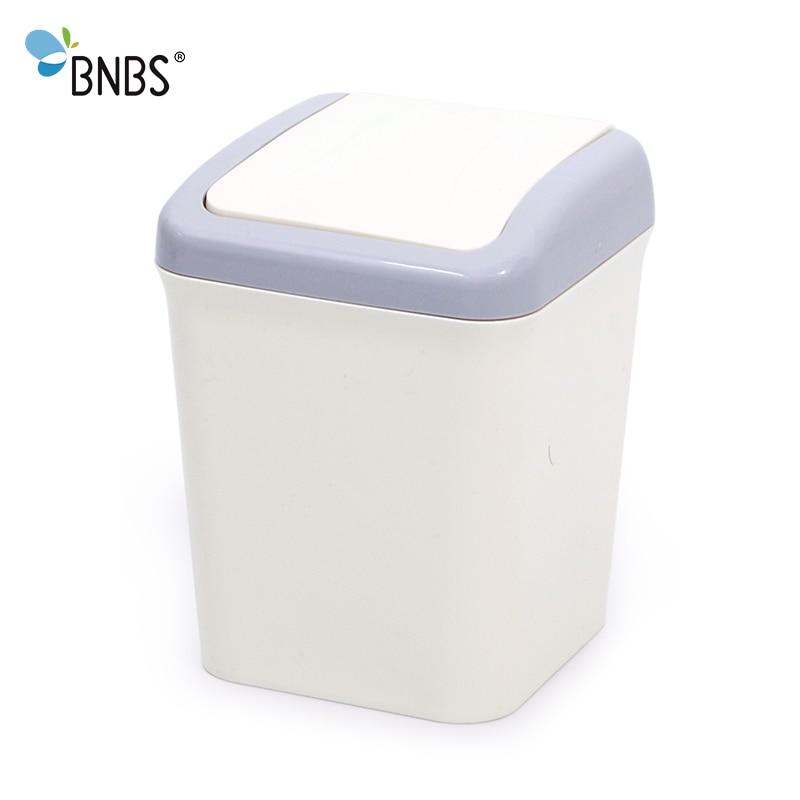 Bnbs Cute Mini Waste Bin Home Office Bathroom Trash Can Desktop Garbage Box Table Dustbin Sundries Barrel Bins Storage In From Garden