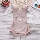 Baby Bodysuit Khaki Lovely Rabbit Ears Baby Girl Onesie Bodysuits New Born Baby Girl Newborn Clothes Funny Onesie Dropshipping