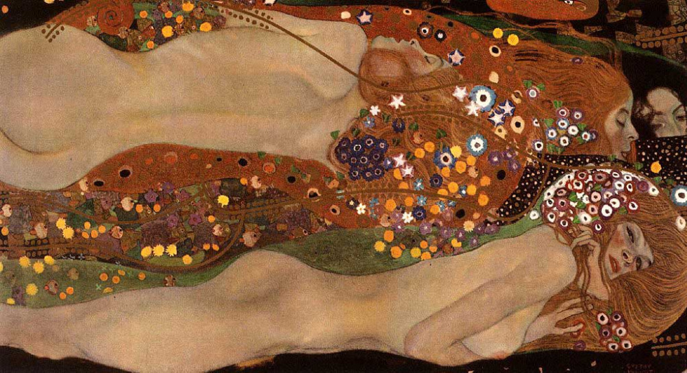 Handmade oil painting reproduction Water Snakes II by Famous Gustav Klimt Oil Painting On Canvas Klimt