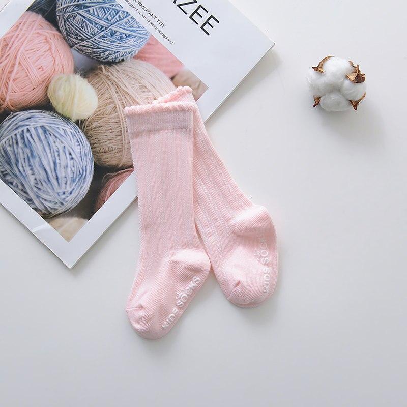 Новые детские носки гольфы с большим бантом для маленьких девочек, мягкие хлопковые кружевные детские носки kniekousen meisje, Прямая поставка#30 - Цвет: Bubble mouth pink