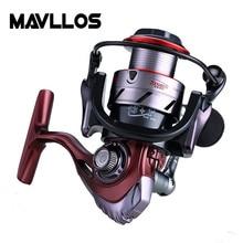 все цены на Mavllos 18kg Large Drag Power Fishing Spinning Reel 2000 3000 6000 Series 5:5:1 Saltwater Sea Carp Fishing Reels Metal Handle онлайн