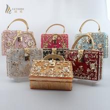 купить Classical Acrylic Women Handbag Purse Ladies Fashion Evening Bag Wedding Party Bag Wallet Alloy Flower Clutches Crossbody Bag дешево