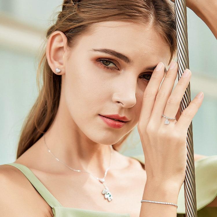 HTB15fz6Gb5YBuNjSspoq6zeNFXaR BAMOER Featured Brand DEALS 925 Sterling Silver Sparkling Strand Bracelet Women Link Tennis Bracelet Silver Jewelry SCB029
