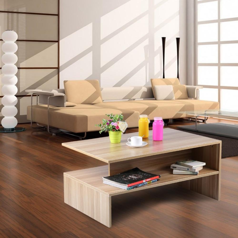 Moderne Rectangle Salon Grand Compartiment De Rangement Café Table à Thé Avec Plateau À La Mode Décoratifs pour La Maison Meubles Date dans Armoires à outils de Outils