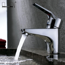 Hot and Cold Mixer Tap Bathroom Basin Sink Faucet Chrome Copper Water Tap Mixer Single Handle Bath Faucets FY103
