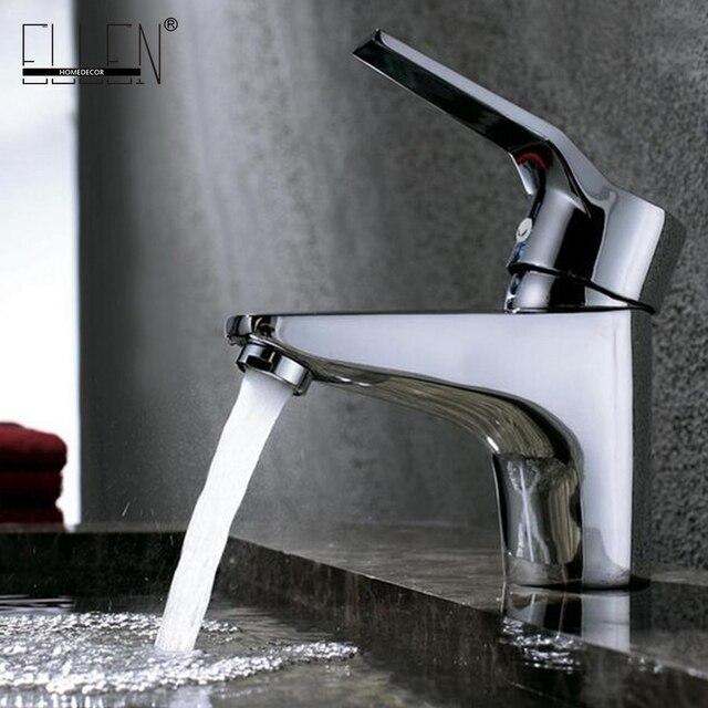 Sıcak ve Soğuk musluk bataryası Banyo Havzası lavabo musluğu Krom Bakır Su musluk bataryası Tek Kolu Banyo Armatürleri FY103