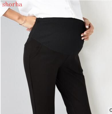 0d8c72707ac69d Quality Elastic Waist Cotton Maternity Pants Fashion Clothes for Pregnant  Women Pregnancy Black professional pregnant women pant-in Pants & Capris  from ...