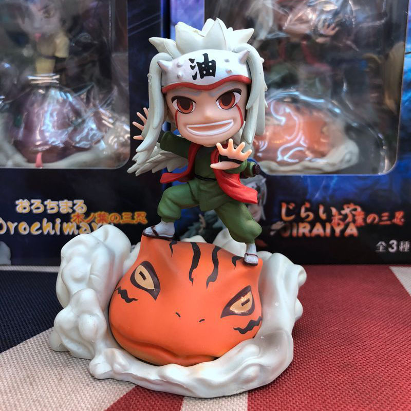 Naruto Anime Action Figures Toys Jiraiya Tsunade Orochimaru 10cm Models Dolls Christmas Gifts For Children Kids Comic Animation in Action Toy Figures from Toys Hobbies