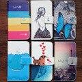 Moda PU carteira de couro casos capa para Asus Zenfone 2 ZE550ML / ZE551ML pintura Case + cordão presente