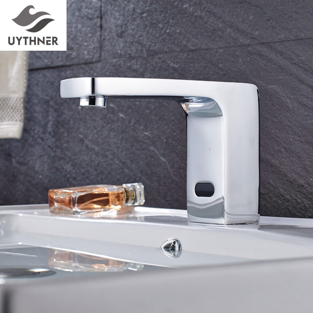 Uythner Deck Mounted Chrome Polished Seven Style Bathroom Sense Faucets with Shorter Body Mixer Tap free shipping polished chrome finish new wall mounted waterfall bathroom bathtub handheld shower tap mixer faucet yt 5333