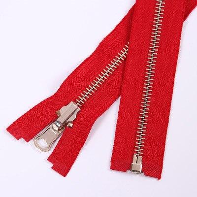 Alipress 5#90 см длинный открытый конец молния светильник золотые зубы металлические молнии для DIY шитья пуховик Куртка - Цвет: red