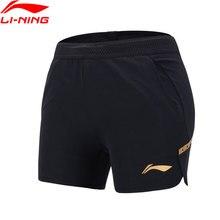 Распродажа) Li-Ning женские настольные теннисные шорты, обычная посадка 92% полиэстер 8% спандекс подкладка дышащие спортивные шорты AAPN054 WKD603