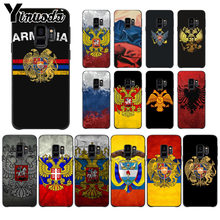 Yinuoda Armenia Albania Russia flag Emblem Phone Case Cover for Samsung S9 S9 plus S5 S6 S6edge S6plus S7 S7edge S8 S8plus Cover(China)