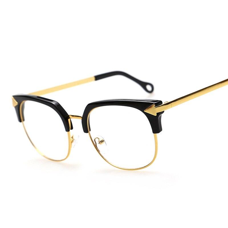 a6b5359494cd9 Nueva Marca de Moda Marco de Las Lentes Mujeres Flecha Anteojos Cuadrados  Hombres Vintage Gafas Enmarca Los Vidrios Ópticos Lentes opticos en De los  hombres ...