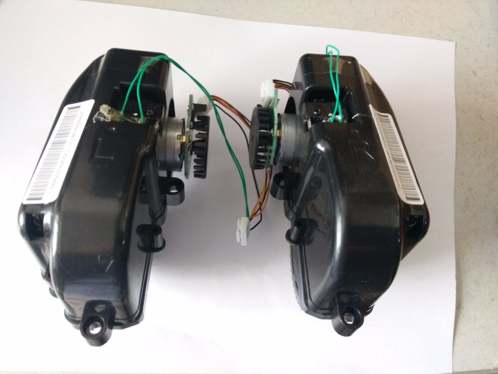 (For B6009) LIECTROUX robot vacuum cleaner B6009 Left & Right Wheel Assembly with Motor, Includes 1*Left Wheel + 1* Right Wheel for b6009 left