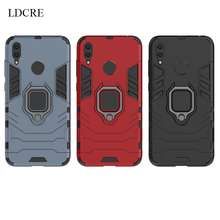 Huawei Y7 Prime 2019 Case Magnetic Finger Ring Kickstand Hard Phone For Cover Fundas