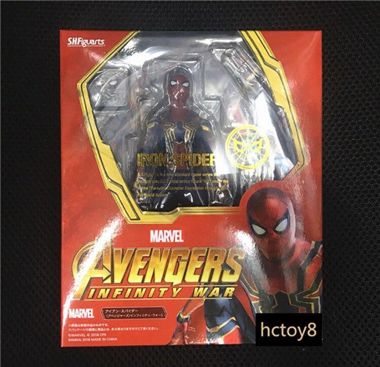Marvel Avengers infinito guerra hierro araña figuras de acción SHF Normal Ver Modelo BJD juguetes Spiderman Ironman 14 cm
