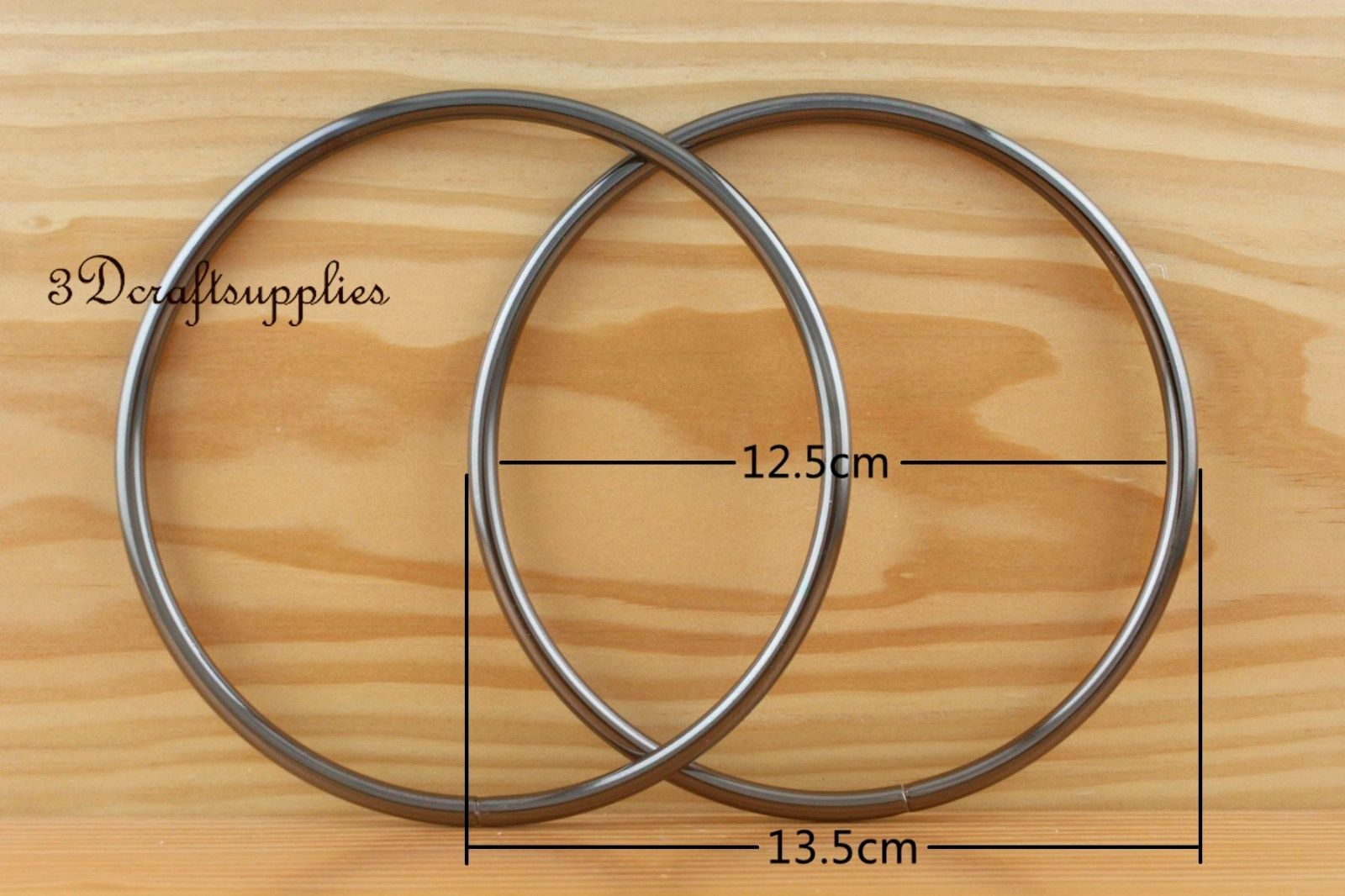 metal purse handle O rings Circle ring iron gunmetal 5 ...