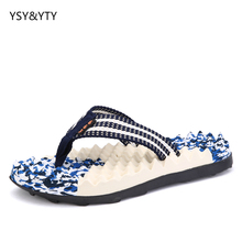 2019 new men's plywood flip flops massage camouflage beach tide drag cool slippers daily casual men's shoes summer