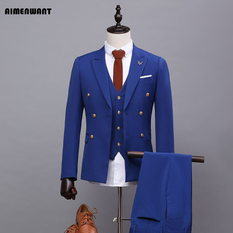 Online Buy Wholesale mens double breasted suit from China mens ...