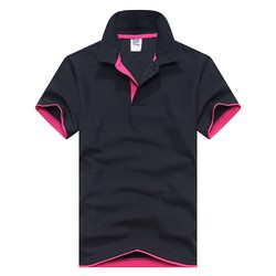 Men polo shirt fashion solid color short sleeved camisas polo slim shirt men cotton polo shirts.jpg 250x250