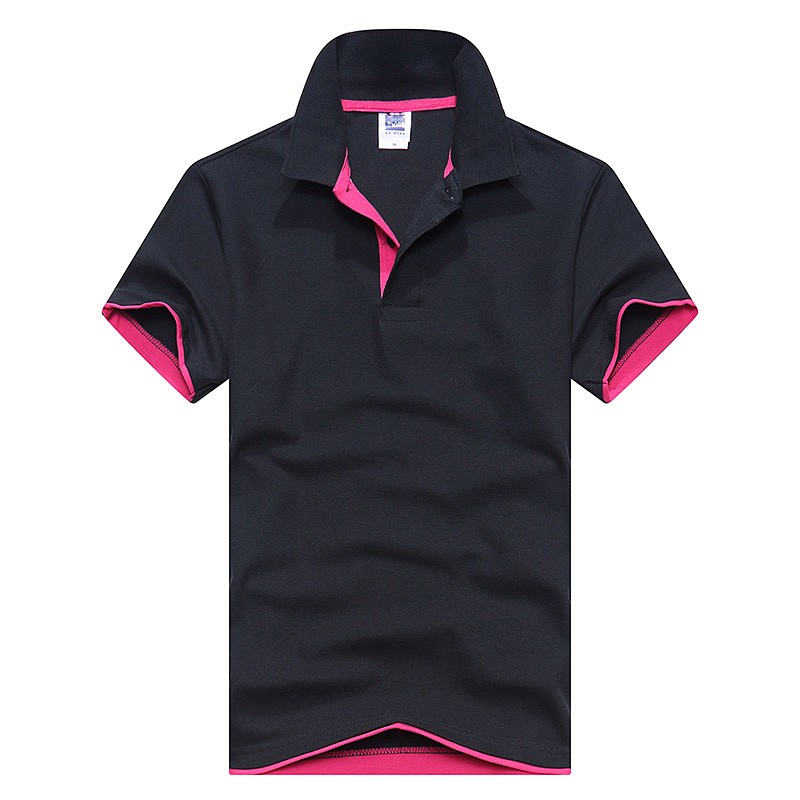 Men   Polo   Shirt Fashion Solid Color Short-sleeved Camisas   polo   Slim Shirt Men Cotton   polo   Shirts Casual Shirts Tops Tees S-3XL