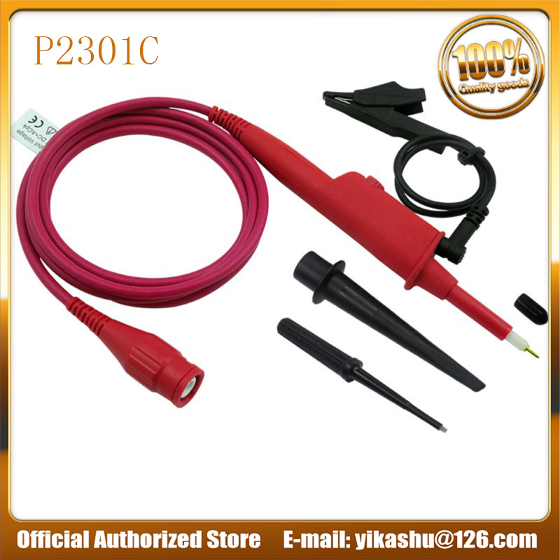 Hantek P2301C 1PCS Oscilloscope Probe 100 1 High Voltage Withstand 5KV 300MHz For Oscilloscope Tektronix HP