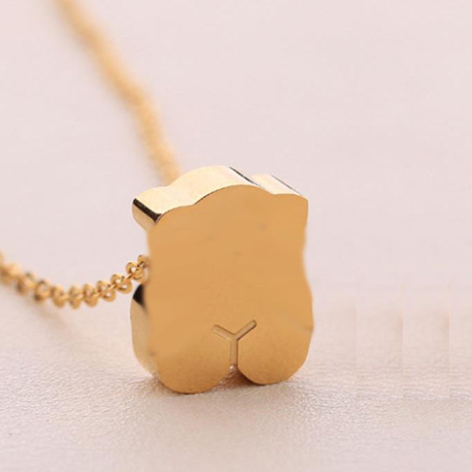 Hot Style Stainless Steel Memorial  Love  Silver/Gold Memorial Cute Animal Pendant Necklace Earring Bangle  Set