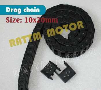 2M 10 x 20mm Cable drag chain wire carrier R28 with end connectors plastic towline for CNC Router Machine Tools 2x1000mm - DISCOUNT ITEM  5% OFF All Category