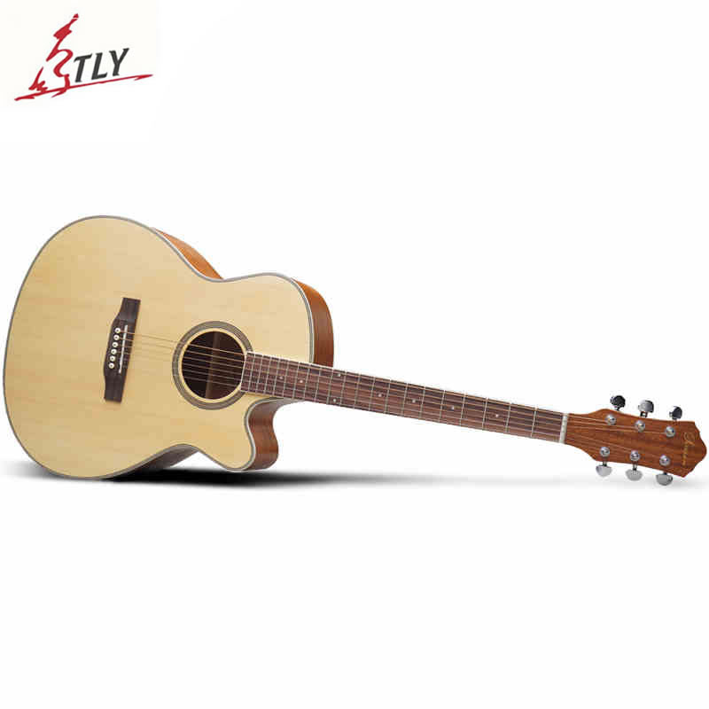 SAYSN 41 Spruce Panel Folk Acoustic Guitar Rosewood Fingerboard Cutaway Guitarra for Beginner Students Music Lovers spruce top sapele back and side rosewood fingerboard acoustic guitar 34 acoustic guitarra free shipping